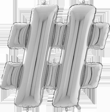 & Silver Foil Letter 26in/66cm