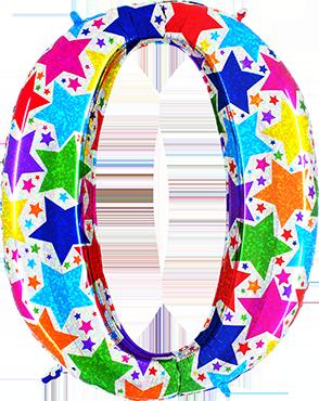 0 Designer Megaloon Holographic Foil Number 40in/100cm