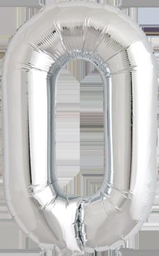 0 Silver Foil Number 7in/18cm