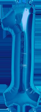 1 Blue Foil Number 16in/40cm