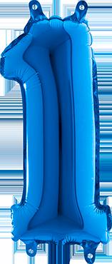1 Blue Foil Number 26in/66cm