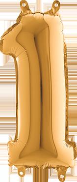 1 Gold Foil Number 26in/66cm