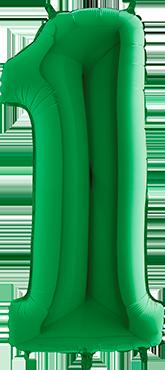1 Green Foil Number 40in/100cm
