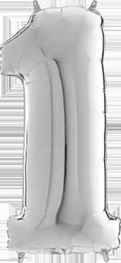 1 Megaloon Silver Foil Number 40in/100cm