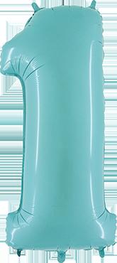 1 Pastel Blue Foil Number 40in/100cm