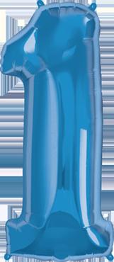 1 Sapphire Blue Foil Number 34in/86cm