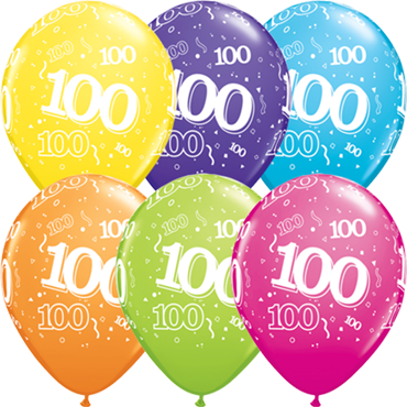 100 Retail Assortment Latex Round 11in/27.5cm