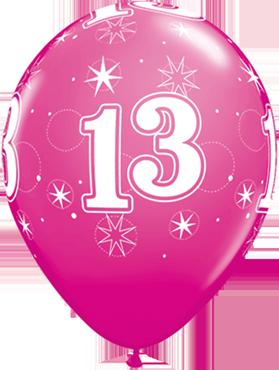 13 Sparkle Fashion Wild Berry Latex Round 11in/27.5cm