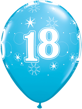 18 Sparkle Fashion Robins Egg Blue Latex Round 11in/27.5cm
