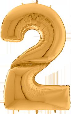 2 Gigaloon Gold Foil Number 64in/162cm