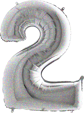 2 Holographic Foil Number 40in/100cm