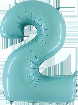 2 Pastel Blue Foil Number 40in/100cm