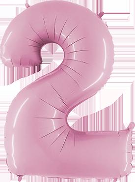 2 Pastel Pink Foil Number 26in/66cm