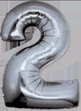 2 Silver Foil Number 8in/20cm