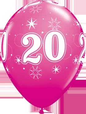 20 Sparkle Fashion Wild Berry Latex Round 11in/27.5cm