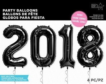 2018 Kit Black Foil Letters 34in/86cm