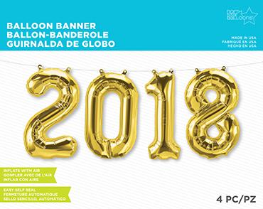 2018 Kit Gold Foil Letters 34in/86cm