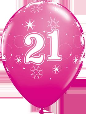 21 Sparkle Fashion Wild Berry Latex Round 11in/27.5cm