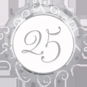 25th Anniversary Foil Round 18in/45cm
