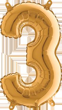 3 Gold Foil Number 26in/66cm
