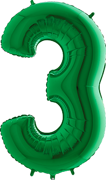 3 Green Foil Number 40in/100cm