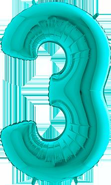 3 Tiffany Foil Number 26in/66cm