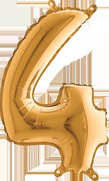 4 Gold Foil Number 26in/66cm