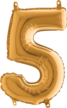 5 Gold Foil Number 26in/66cm