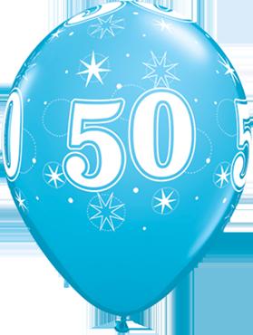 50 Sparkle Fashion Robins Egg Blue Latex Round 11in/27.5cm