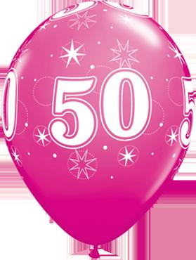 50 Sparkle Fashion Wild Berry Latex Round 11in/27.5cm