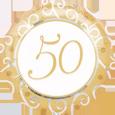 50th Anniversary Foil Round 18in/45cm