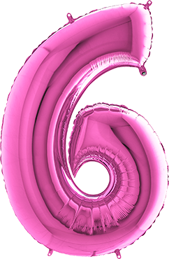 6 Fuchsia Foil Number 40in/100cm