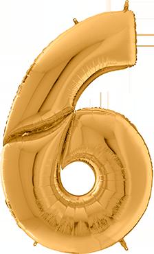 6 Gigaloon Gold Foil Number 64in/162cm