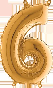 6 Gold Foil Number 26in/66cm