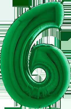6 Green Foil Number 40in/100cm