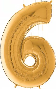 6 Megaloon Gold Foil Number 40in/100cm
