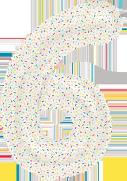 6 Sprinkles Foil Number 16in/40cm