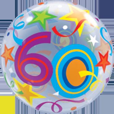 60 Brilliant Stars Single Bubble 22in/55cm