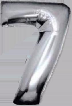 7 Silver Foil Number 8in/20cm