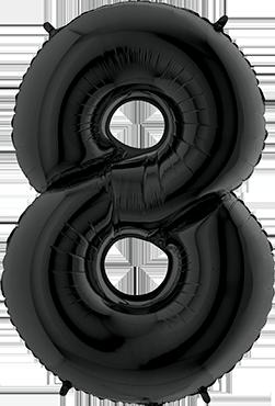 8 Black Foil Number 26in/66cm