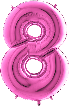 8 Fuchsia Foil Number 40in/100cm