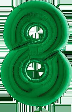 8 Green Foil Number 40in/100cm