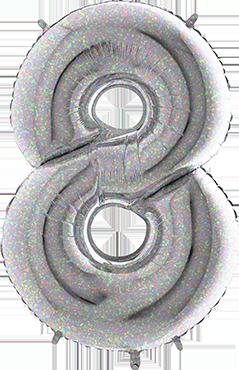 8 Holographic Foil Number 26in/66cm