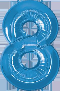 8 Sapphire Blue Foil Number 34in/86cm