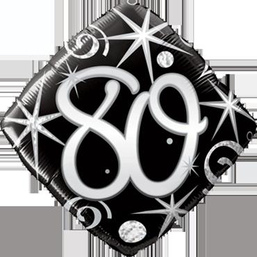 80 Elegant Sparkles and Swirls Foil Diamond 18in/45cm