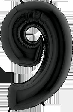 9 Black Foil Number 26in/66cm