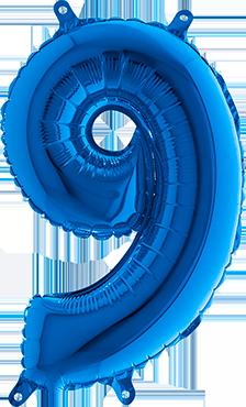 9 Blue Foil Number 40in/100cm