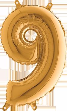 9 Gold Foil Number 26in/66cm