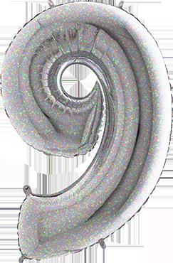 9 Holographic Foil Number 40in/100cm