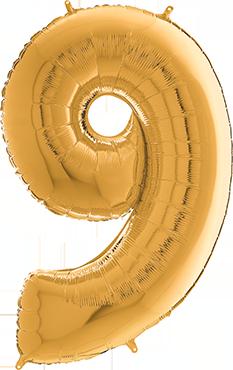 9 Megaloon Gold Foil Number 40in/100cm